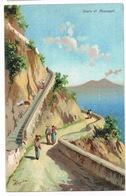 Cartolina - Postcard / Non Viaggiata - Unsent / Pittorica – Scala Di Anacapri - Italia