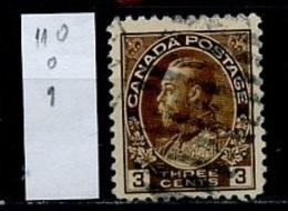 Canada - Kanada 1918-25 Y&T N°110 - Michel N°110 (o) - 3c George V - 1911-1935 Règne De George V