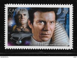 CANADA 2017. #2986i,  MNH STAR TREK Second Edition, KIRK & KHAN NOONIEN SINGH  DIE CUT From Quartly Pack - Carnets