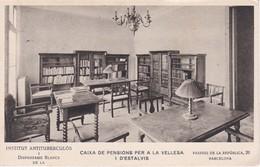 POSTAL DE BARCELONA DEL INSTITUT ANTITUBERCULOS Y LA CAIXA DE PENSIONS DEL AÑO 1934 - Barcelona