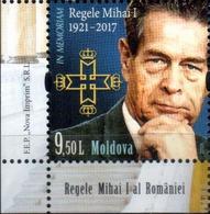 """Moldova 2018 """"Michai I Last King Of Romania """" 1v  Qualiti:100% - Moldova"""