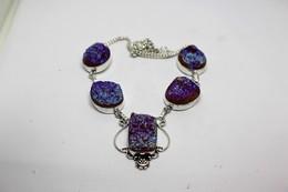 Collana Di Titanium Druzy  Misura 49 Cm. - Necklaces/Chains