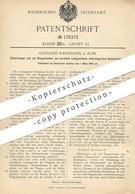 Original Patent - Giovanni Randanini , Rom , Italien , 1905 , Güterwagen   Güterzug , Wagon   Eisenbahn , Eisenbahnen !! - Documents Historiques