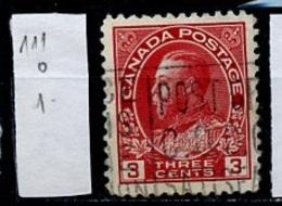Canada - Kanada 1918-25 Y&T N°111 - Michel N°111 (o) - 4c George V - 1911-1935 Règne De George V