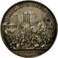France, Médaille, Prise De La Bastille , Donjon De Vincennes, 1844, Rogat, TTB - France