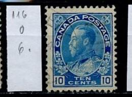 Canada - Kanada 1918-25 Y&T N°116 - Michel N°116 (o) - 10c George V - 1911-1935 Règne De George V