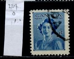 Canada - Kanada 1947 Y&T N°227 - Michel N°246 (o) - 4c Princesse Elisabeth - 1937-1952 Règne De George VI