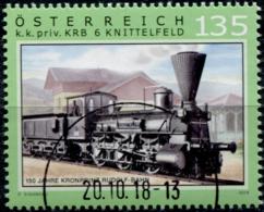 Austria 2018 Eisenbahnen (XXIII): 150 Jahre Kronprinz-Rudolf-Bahn  GESTEMPELT/USED/O - 1945-.... 2. Republik