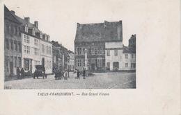 CPA Précurseur Theux - Franchimont - Rue Grand Vinave (avec Animation) - Theux