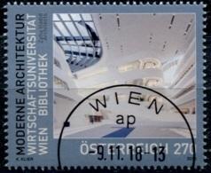 Austria 2018  Wirtschaftuniversität Wien-Bibliothek GESTEMPELT/USED/O - 1945-.... 2ème République