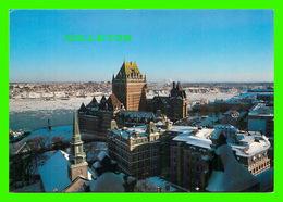 QUÉBEC - LA CATHÉDRALE ANGLICANE HOLY TRINITY & L'ANCIEN PALAIS DE JUSTINE EN HIVER  - CIRCULÉE EN 1990 - - Québec - La Cité