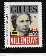 CANADA 2017, #2494i  CANADA FORMULA 1, GRAND PRIX DU CANADA :  Gilles Villeneuve, DIE CUT - Booklets