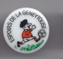 Pin's En Porcelaine Thosca Limoges Club De Footbal Espoirs De La Geneytouse Dpt 87 Réf 3787 - Villes