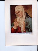 U4179 Cartolina Artigianale Con Quadro Di TIZIANO: L'ADDOLORATA - Tableaux, Malen, Painting - Paintings