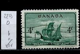 Canada - Kanada 1949 Y&T N°229 - Michel N°248 (o) - 4c Bateau Le Matthew - 1937-1952 Règne De George VI