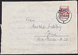 DDR: Amtlicher Faltbrief Mit Eingedruckten 20 Pf Stalinallee SoSt. MASSERBERG (THÜR) Vom 23.5.57 Knr: 580 (F1a) - Briefe U. Dokumente