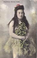 POSTAL DE HULA DANCER, HAWAIIAN ISLANDS (MUJER HAWAIANA) - Big Island Of Hawaii