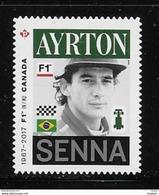CANADA 2017,  #2995i,  CANADA FORMULA 1, GRAND PRIX DU CANADA :Ayrton  Senna  DIE CUT - Booklets
