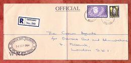 Einschreiben Reco, Education Dept, MiF Kennedy U.a., Oshogbo Nach London 1964 (61470) - Nigeria (1961-...)