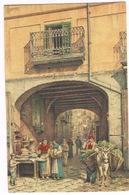 Cartolina - Postcard / Viaggiata - Sent / Pittorica – Napoli – Arco De' Cangiani (piega Angolo Dx Inferiore) - Napoli (Naples)