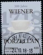 Austria 2018 300 Jahre Wiener Porzellan. Odr. Mit Lacküberzug  GESTEMPELT/USED/O - 1945-.... 2. Republik