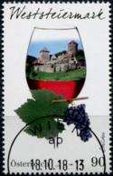 Austria 2018  Weinregionen Österreichs (VII): Weststeiermark - Schilcher Wein GESTEMPELT/USED/O - 1945-.... 2. Republik