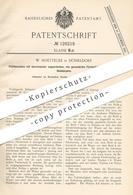 Original Patent - W. Hoettecke , Düsseldorf 1900 , Plättmaschine   Gewebe Plätten   Bügeln , Mangel , Wäsche , Wäscherei - Documents Historiques