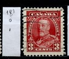 Canada - Kanada 1935 Y&T N°181 - Michel N°186 (o) - 3c George V - 1911-1935 Règne De George V