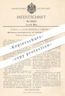 Original Patent - Rudolf U. Alois Priebsch , Gablonz , 1900 , Metallkanten - Anschlagmaschine   Metall , Hammer !!! - Documents Historiques