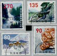 Austria 2018  Dispenser-Marken, 4 Werte Ersttagstempel, 4. Auflage - 1945-.... 2. Republik