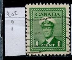 Canada - Kanada 1943-48 Y&T N°205 - Michel N°216 (o) - 1c Marine - 1937-1952 Règne De George VI
