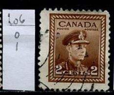 Canada - Kanada 1943-48 Y&T N°206 - Michel N°217 (o) - 2c élévateur De Grains - 1937-1952 Règne De George VI