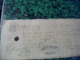 Vieux Papier Lettre  De Change Manuscrite De 1855 Avec Cachet Imperial  Villefranche Du Tarn 81 Fiscal De 10ct - Cambiali