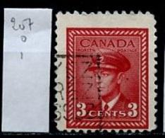 Canada - Kanada 1943-48 Y&T N°207 - Michel N°218 (o) - 3c Aviation - 1937-1952 Règne De George VI