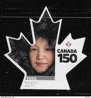 CANADA 2017  #3006i, CANADA 150th  NUNAVUT LITTLE INUIT GIRL DIE CUT - Carnets