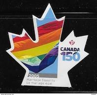 CANADA 2017 #3007i, CANADA 150th  MARIAGE EQUALITY  FLAG  DIE CUT - Carnets