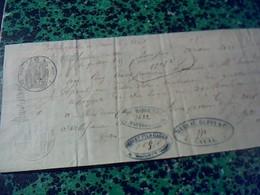 Vieux Papier Lettre  De Change Manuscrite De 1855 Avec Cachet Imperial  Villefranche Du Tarn 81 Fiscal De 20ctt - Cambiali