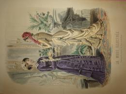 """Gravure Parue Dans """"La Mode Illustrée"""" N°17 De 1880, Toilettes De Mme Breant Castel, Chapeau, DOCUMENT ORIGINAL - Chromos"""