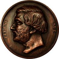 France, Médaille, Louis-Philippe, Eugène Sue, 1846, Rogat, SUP, Cuivre - France