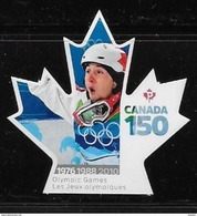 CANADA 2017  3008i, CANADA 150th  OLYMPIC GAMES      VANCOUVER   DIE CUT - Carnets