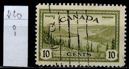 Canada - Kanada 1943-48 Y&T N°220 - Michel N°236 (o) - 10c Lac Du Grand Ours - 1937-1952 Règne De George VI
