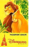 PASS-n-DISNEY-DISNEYLAND PARIS-1996-ROI LION ADULTE-Non Souligné-V° S 089537-Vertical A Droite-TBE-RARE - France