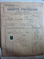"Fattura Pubblicitaria ""GIUSEPPE PANTALEONE ARTE SACRA - CASA EDITRICE Palermo - Italië"