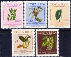 COSTA  RICA - FLOWERS  - **MNH - 1976 - Orchideen