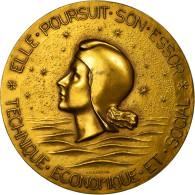 France, Médaille, Compagnie Générale Transatlantique, France, 1962, Coeffin - France