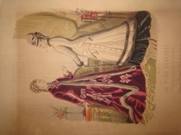 """Gravure Parue Dans """"La Mode Illustrée"""" N°1 De 1876, Toilettes De Mme Breant Castel, Chapeau, DOCUMENT ORIGINAL - Chromos"""