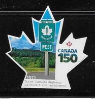 CANADA 2017  CANADA 150th   DIE CUT,   TRANSCANADA HIWAY - Carnets