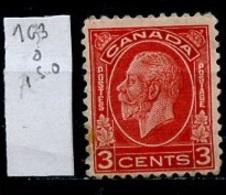 Canada - Kanada 1932-33 Y&T N°163 - Michel N°164 (o) - 3c George V - 1911-1935 Règne De George V