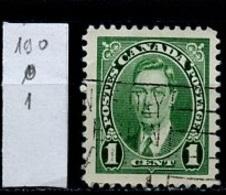 Canada - Kanada 1937 Y&T N°190 - Michel N°197 (o) - 1c George VI - 1937-1952 Règne De George VI
