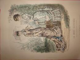 """Gravure Parue Dans """"La Mode Illustrée"""" N°15 De 1880, Toilettes De La Mon Fladry, Mme Coussinet, Ombrelle, Chapeau - Chromos"""